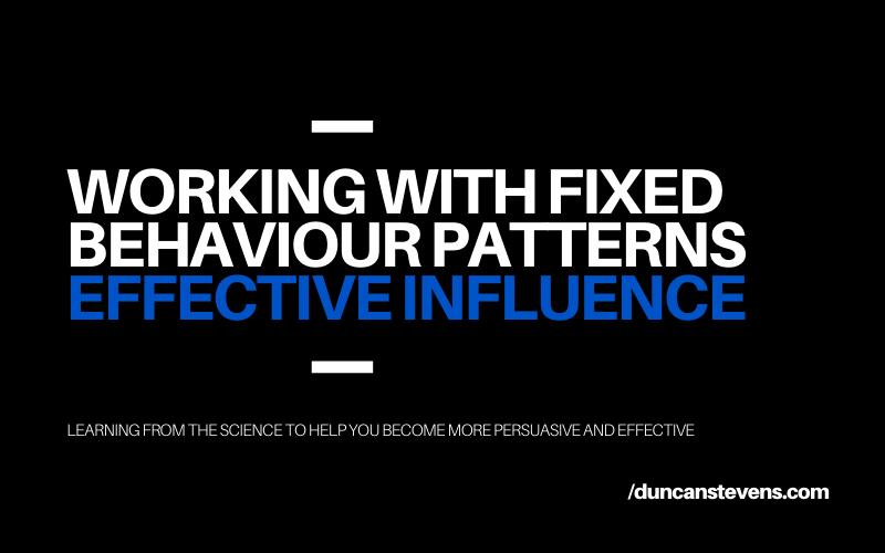 Fixed behaviour patterns