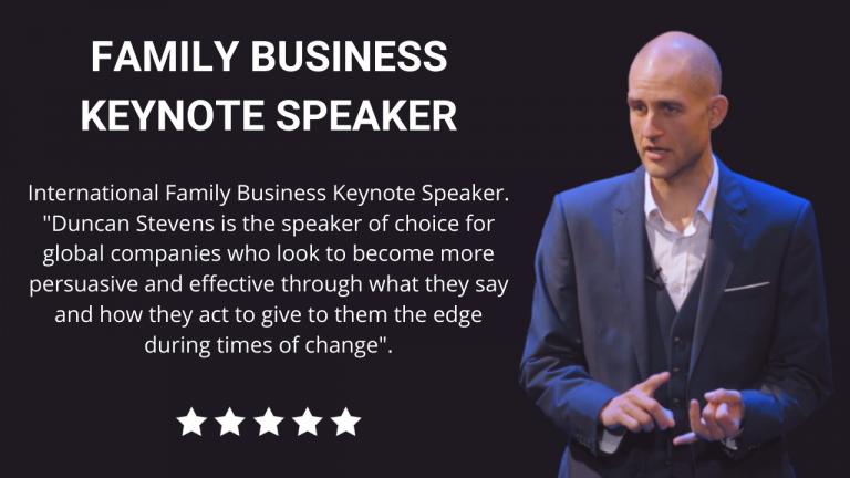 Family Business Keynote Speaker