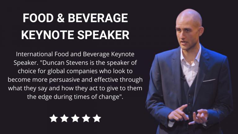Food and Beverage Keynote Speaker