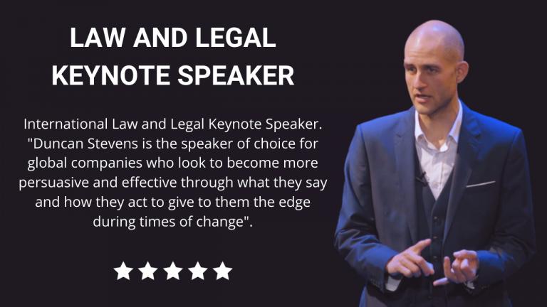 Law and Legal Keynote Speaker