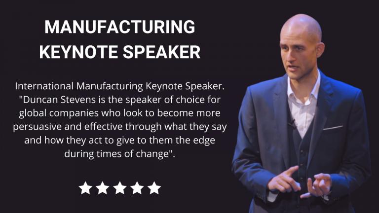 Manufacturing Keynote Speaker
